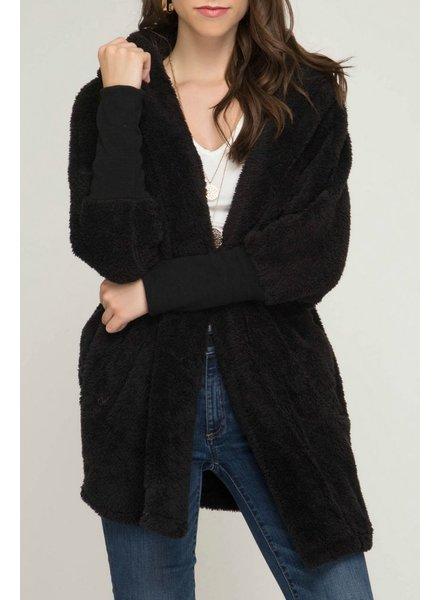 She & Sky Oversized Fleece Jacket