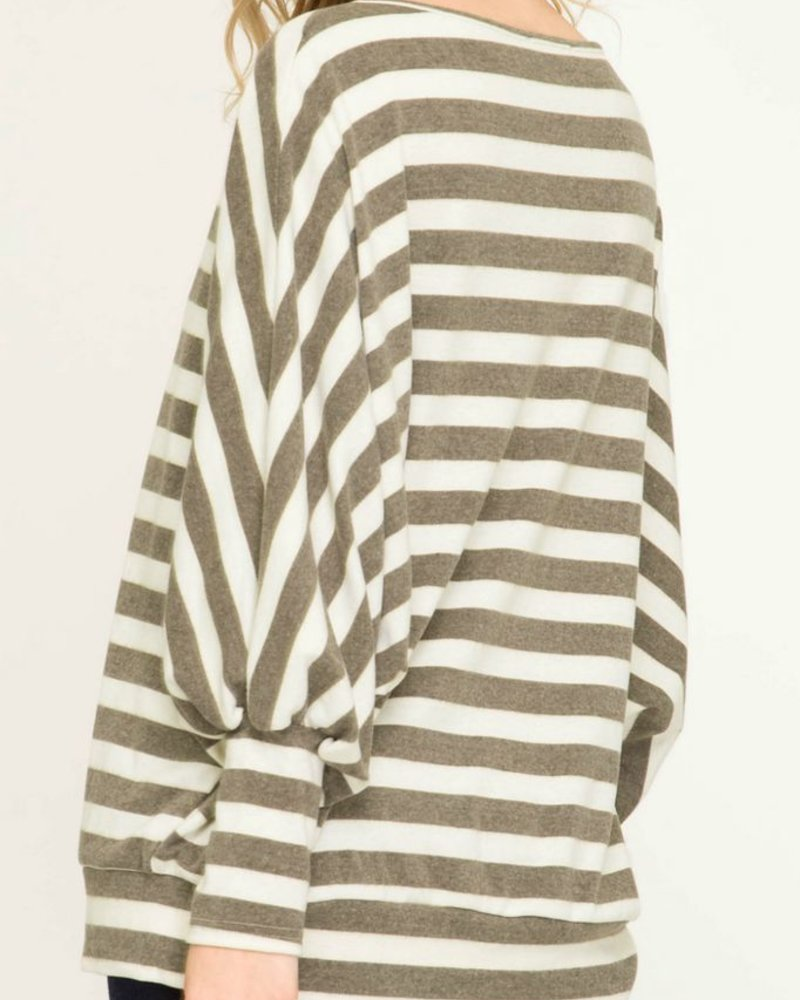 She & Sky Striped Dolman Tunic
