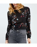 Gentle Fawn Cropped Floral Blouse