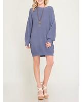 She & Sky Shift Sweater Dress