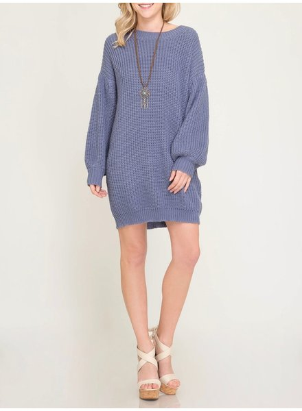 She & Sky Shift Sweater Dress