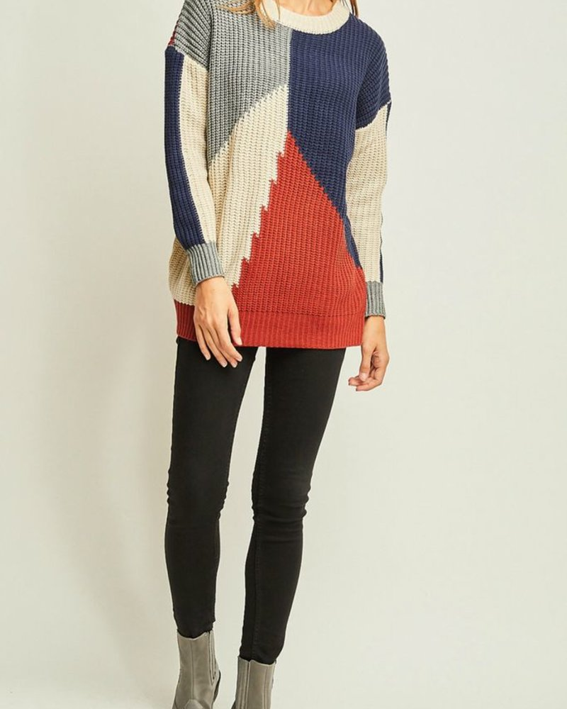Entro Color Block Sweater