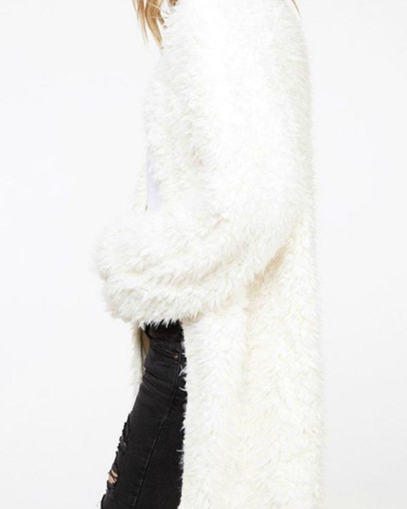 Fantastic Fawn Fuzzy knit coat