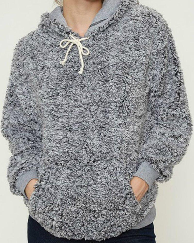 Fantastic Fawn Sherpa Hoodie with Kangaroo Pocket