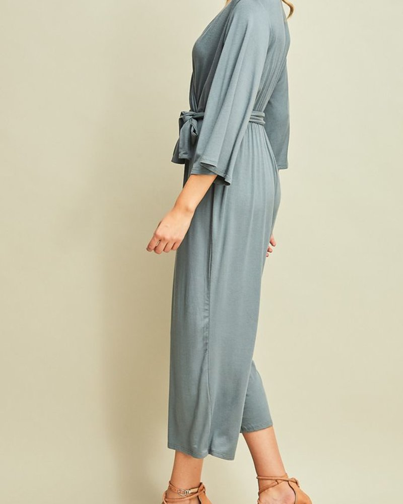 Entro Solid v-neck Jumpsuit