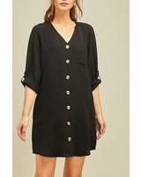 Entro Button Front Dress