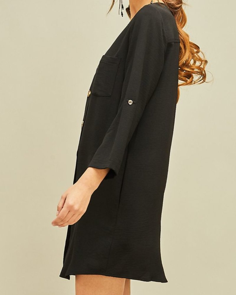 Entro Button Front Dress