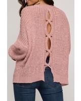She & Sky Open Back Sweater