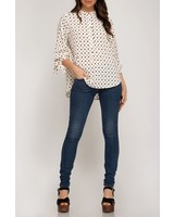 She & Sky Dotted Tunic Top