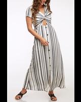 Peach Love CA Cross Top Maxi Dress