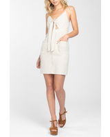 Everly Solid front tie dress