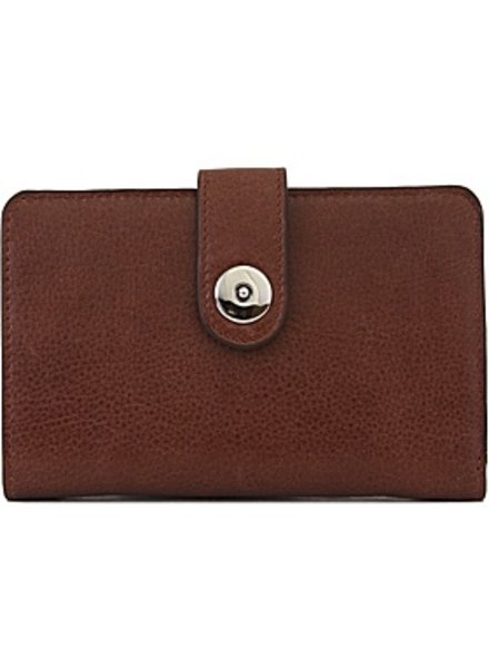 Lodis Lodis Tab Chic Continental Wallet in Chocolate