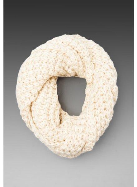 Paula Bianco Paula Bianco Chunky Knit Infinity Scarf - Cream