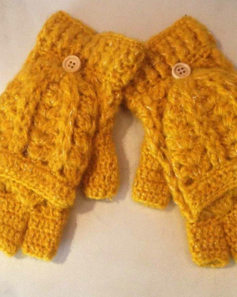 San Diego Hat Company San Diego Hat Co Women's Fingerless Gloves - Mustard
