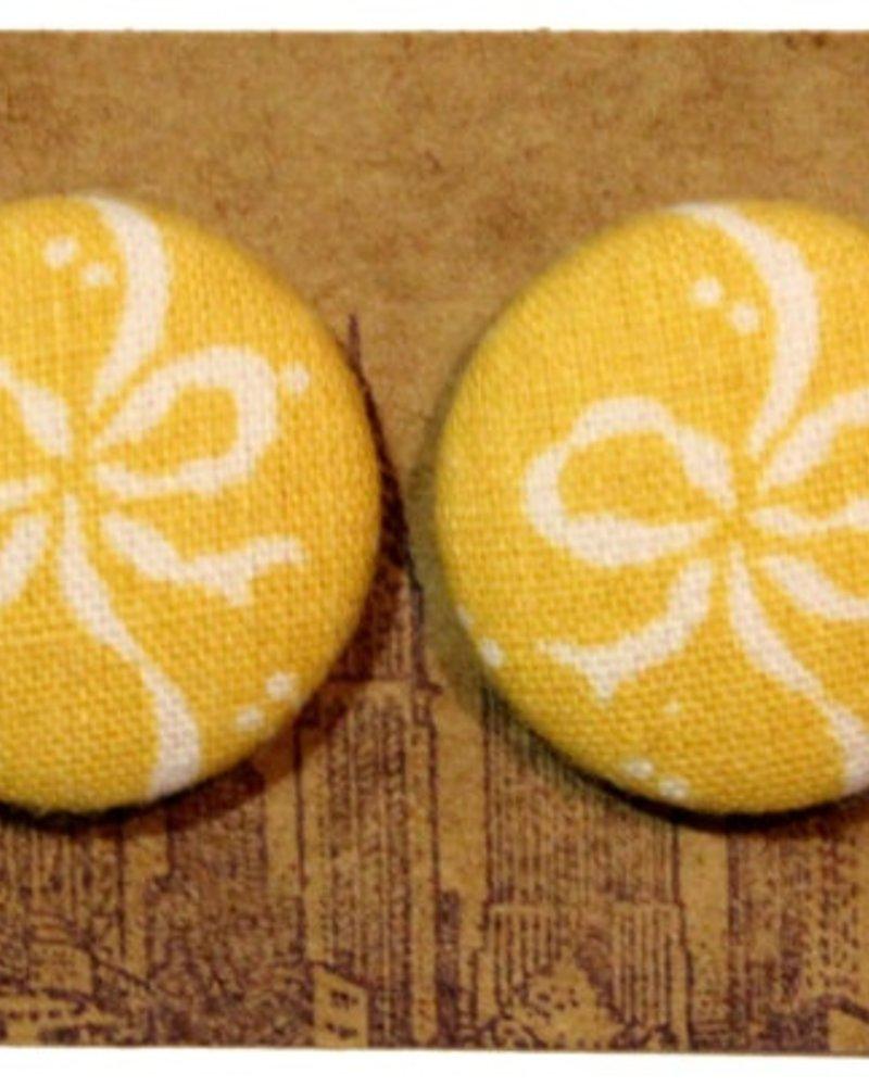 Manhattan Hippy MH Yellow Ribbon print earring