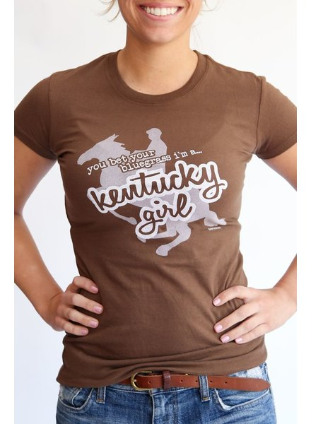 Great to Be Here Tees Kentucky Girl Tee Brown