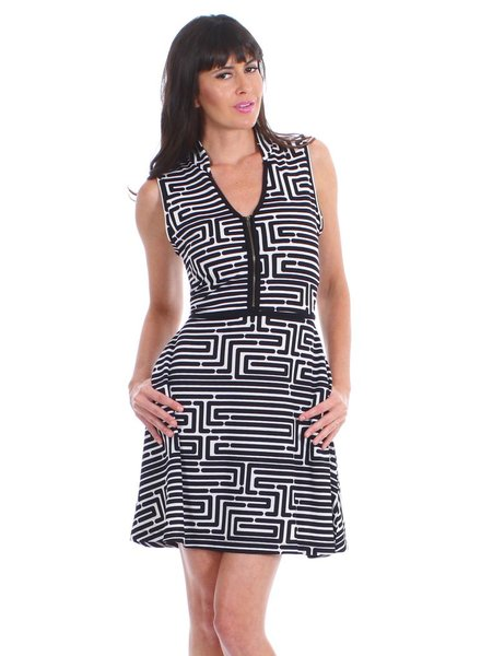 vfish designs vfish designs geometric print dress