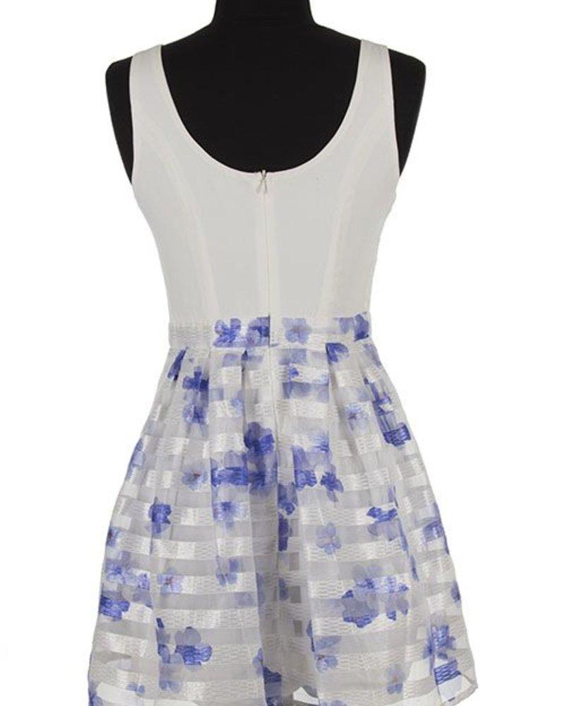 Decapolis Sleeveless, striped skirt dress
