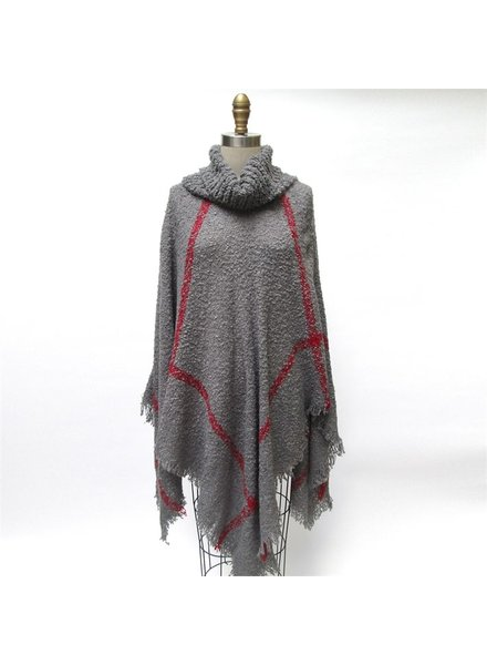 Two's Cowl Neck Gameday Poncho, sale item, Was $63