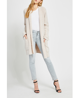 Gentle Fawn Open Cardi Sweater with Pockets