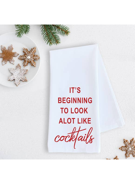 Devenie Designs Cocktails Tea Towel