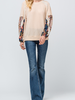 Entro Waffle knit Contrast Top