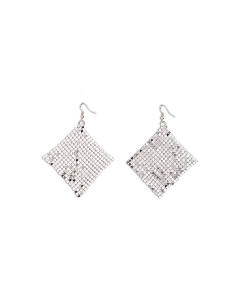 Two's Mesh Dangle Earrings