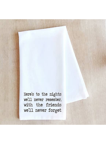 Devenie Designs Here's to the Nights Tea Towel