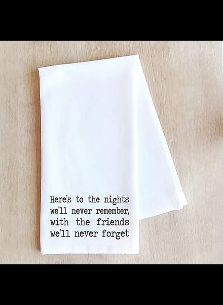 Devenie Designs Here's to the Nights Tea Towel