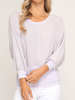 She & Sky Banded waffle knit top