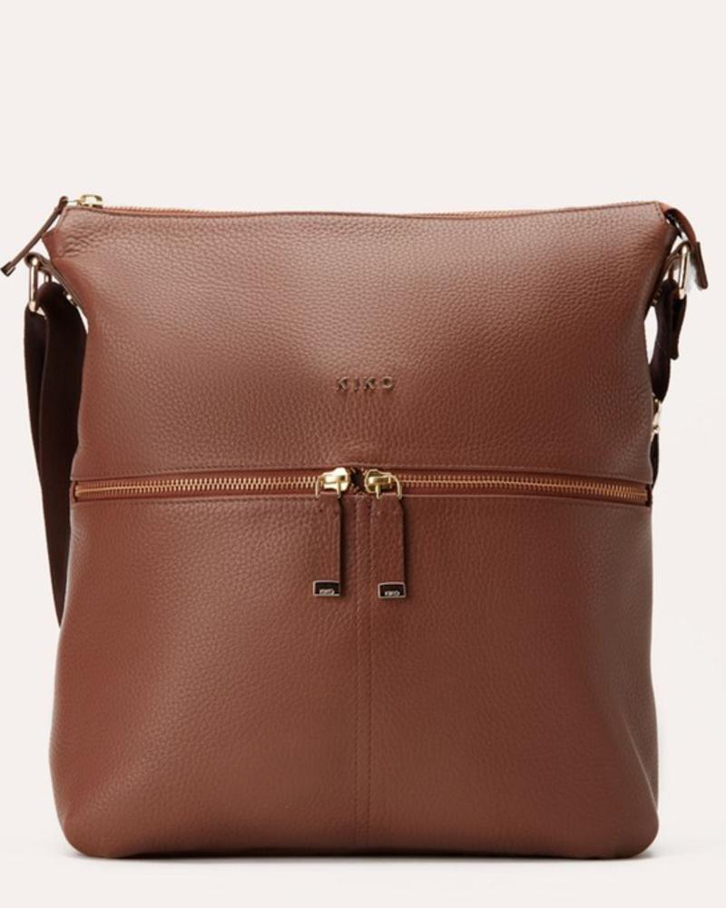 Kiko Leather Large Zipper Tote