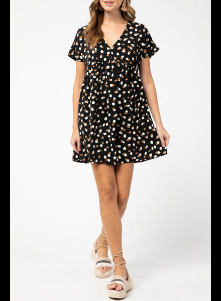 Entro Geo print babydoll dress