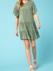 Entro Tiered Flounce Sleeve dress