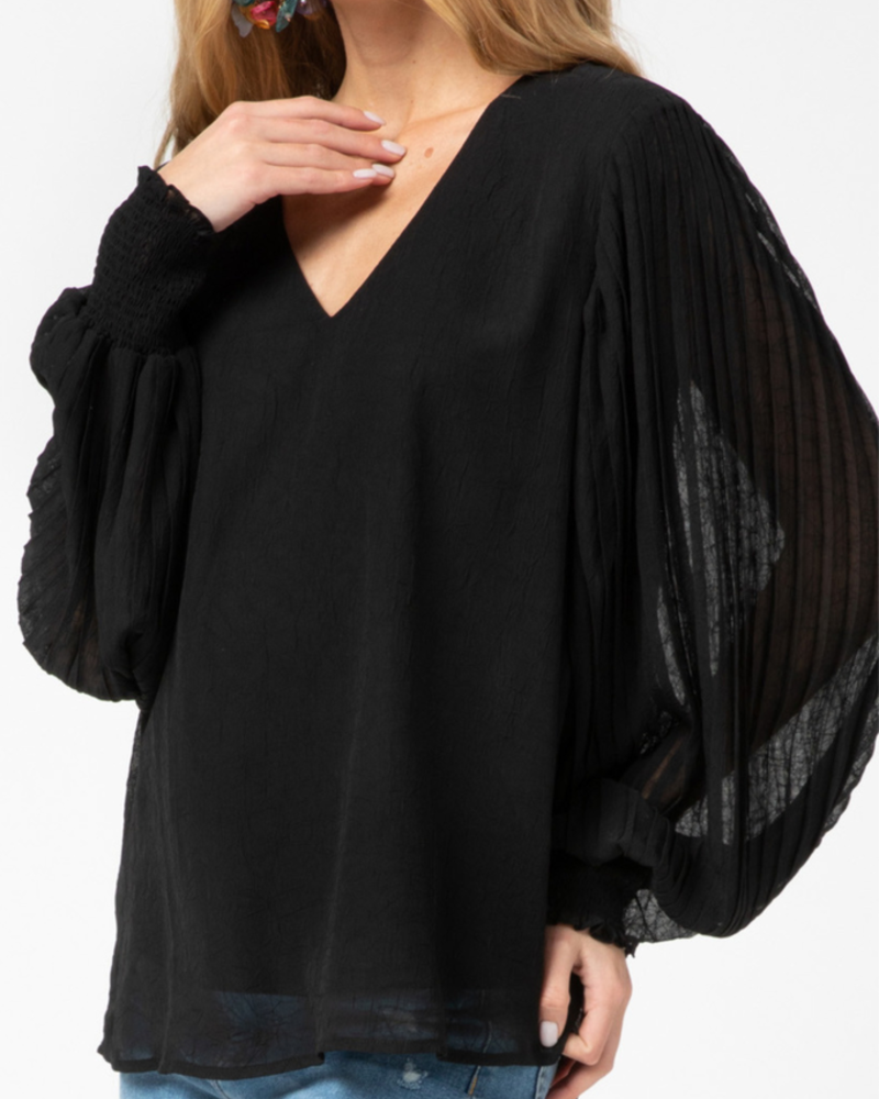 Entro Pleated sleeve top