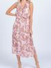 Everly Ruffle trim midi dress