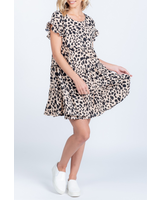 Everly Ruffle animal print dress