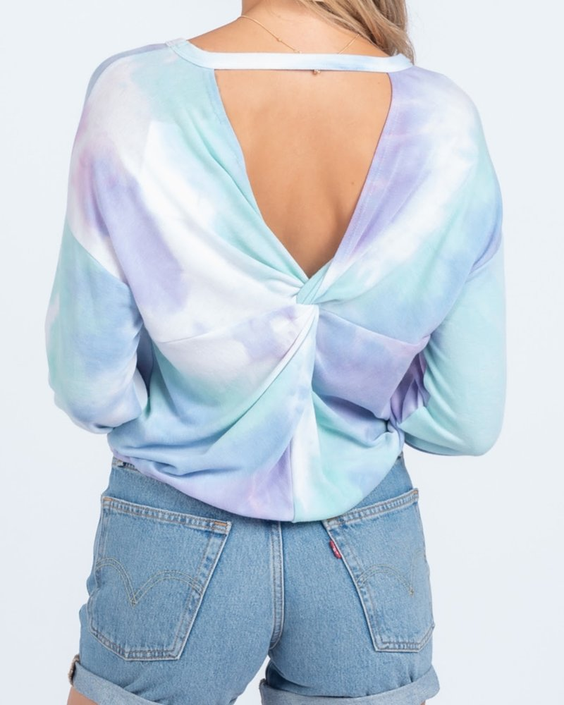 Everly Twistback Tiedyed top