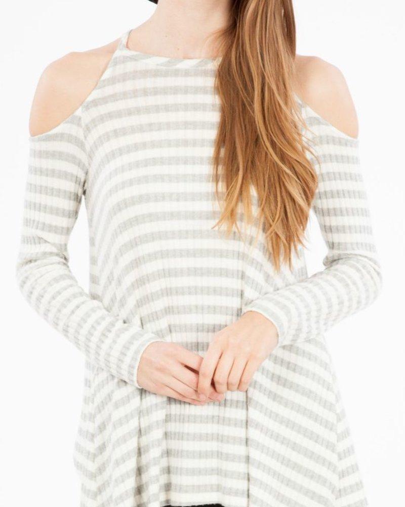 Peach Love CA Peach Love CA Striped Open Shoulder top