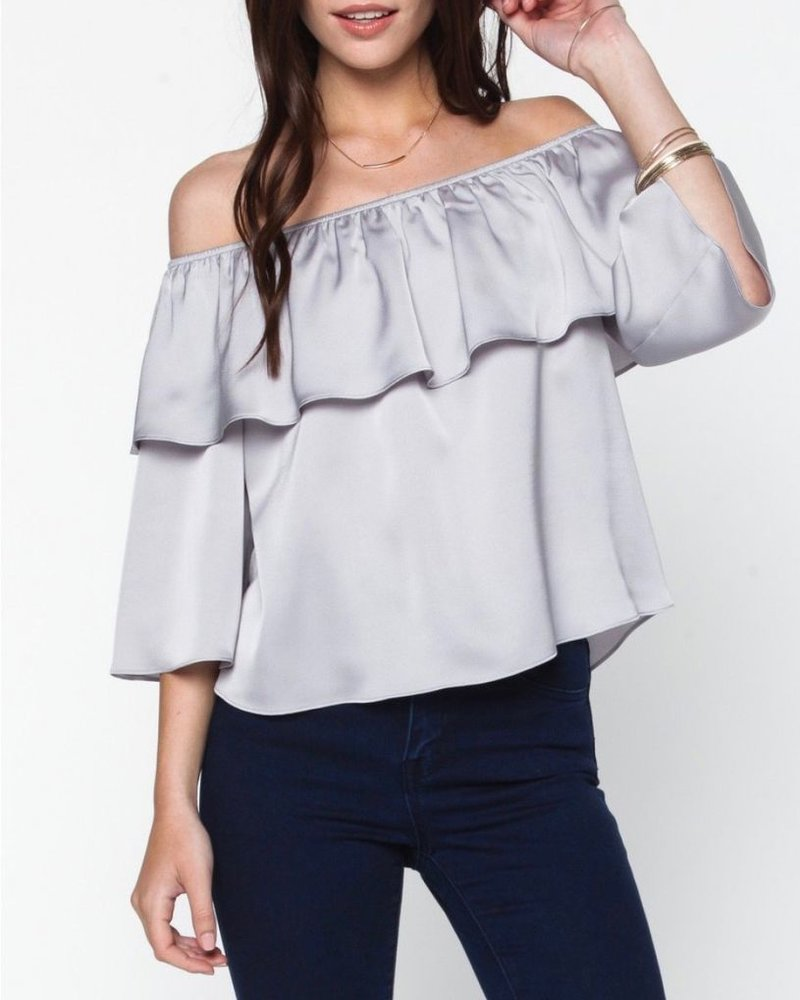 Everly Off the Shoulder Ruffle Top