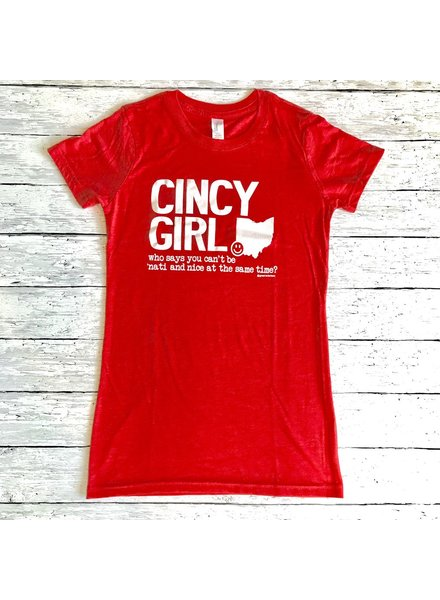 Great to Be Here Tees Cincy Girl Triblend SS Crew Neck Tee