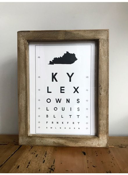 Contstructed Matter Kentucky eye chart framed print