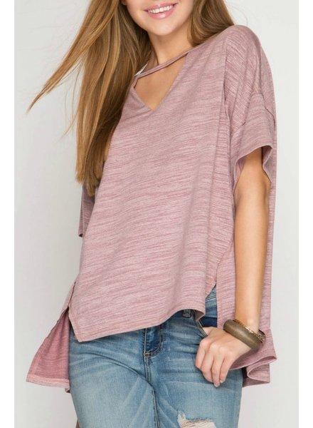 She & Sky Slub Knit Top, sale item, Was $48