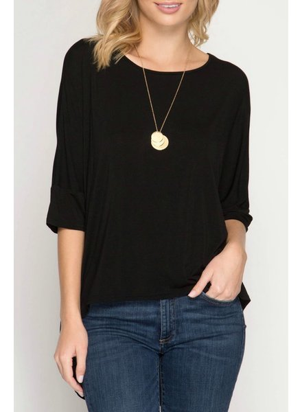 She & Sky Cut Out Back Top