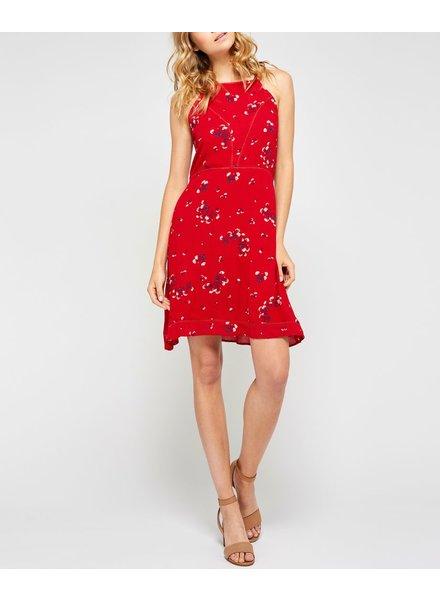 Gentle Fawn Cutout back floral print dress