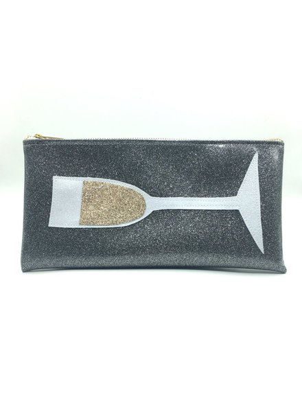 Julie Mollo Champagne clutch