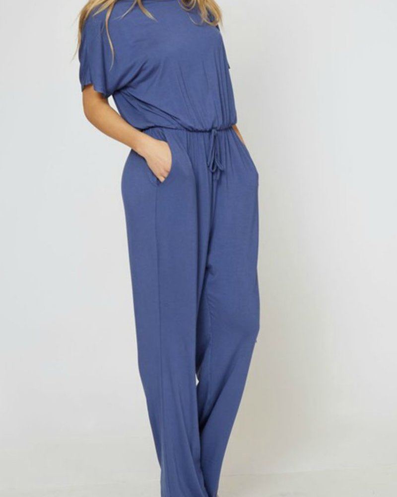 Fantastic Fawn Solid short sleeve jumpsuit