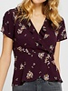 Gentle Fawn Burgundy Floral Top