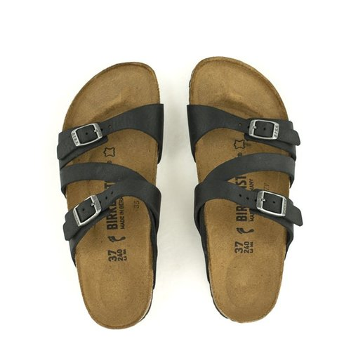 379e0b2947a ... Birkenstock Birkenstock Salina Canberra Old Black Black Natural Leather  Narrow Width