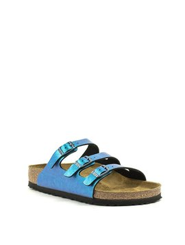 Birkenstock Florida Birko Flor Gem Blue Graceful Regular Width