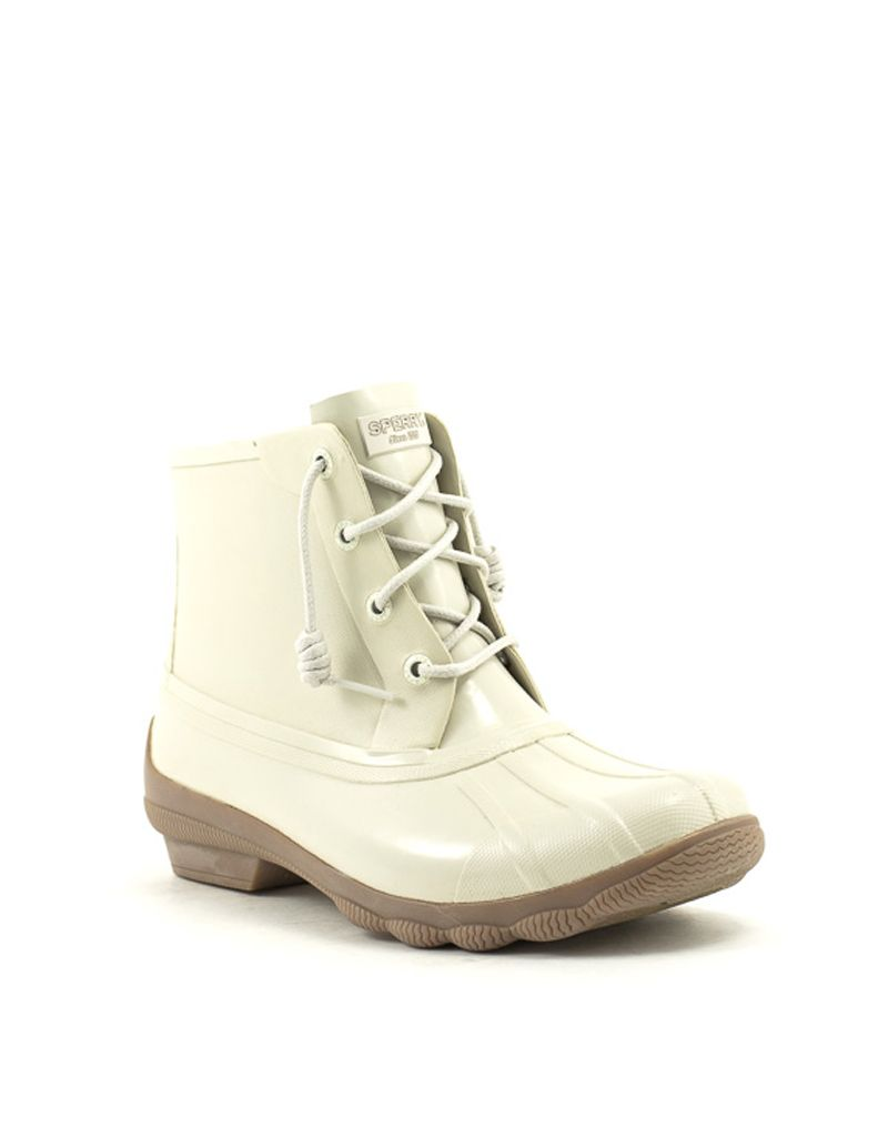 15872a0e39949 Sperry — Syren Gulf Rubber Boot in Cream at Shoe La La
